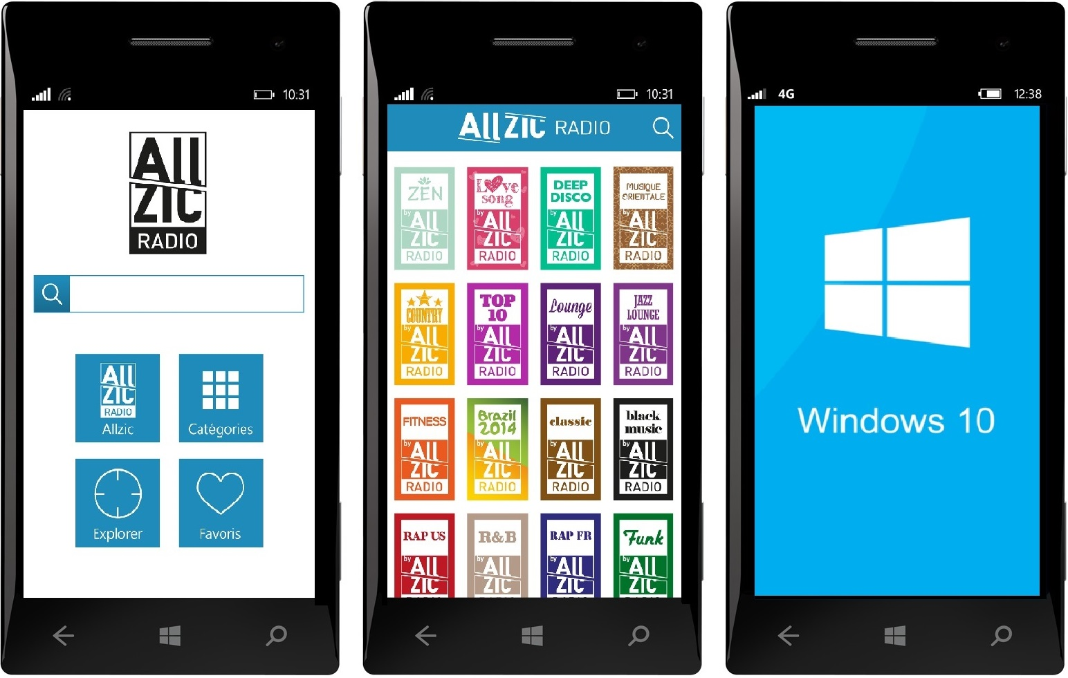 Allzic Radio disponible sur Windows Phone !
