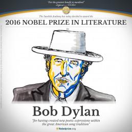 Le prix Nobel de littérature décerné au chanteur Bob Dylan